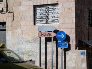 Simple graffiti - Home, Bethlehem, Palestine (2017-01-11)