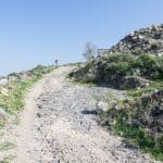 Walking up to the Roman ruins of Sussita Hippos, Sea of Galilee, Israel (2017-01-18)