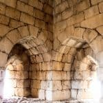 Inside the thick walls of Nimrod Fortress, Golan Heights, Israel (2017-01-30)