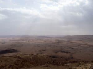 Rainy morning, Ramon Crater, Mitspe Ramon, Israel (2017-02-08)
