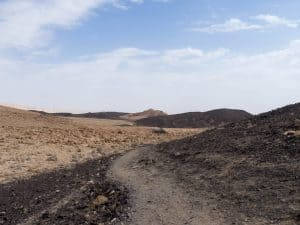 Volcanic landscapes in Ramon Crater, Mitspe Ramon, Israel (2017-02-08)