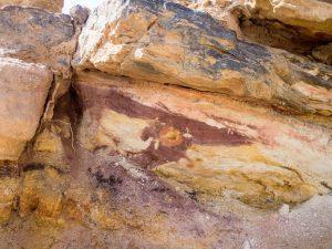 Colorful rock in Ramon Crater, Mitspe Ramon, Israel (2017-02-08)