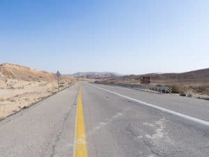 Back on the road, somewhere inside Ramon Crater, Mitspe Ramon, Israel (2017-02-08)