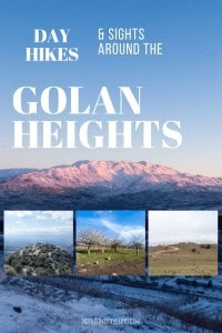 My visit to the Golan Heights: snow, craters, oak forest, and Nimrod Fortress. Incl. practical info on transport and accommodation.