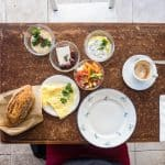 Breakfast at Talpyiot Café, Haifa, Israel (2016-12)