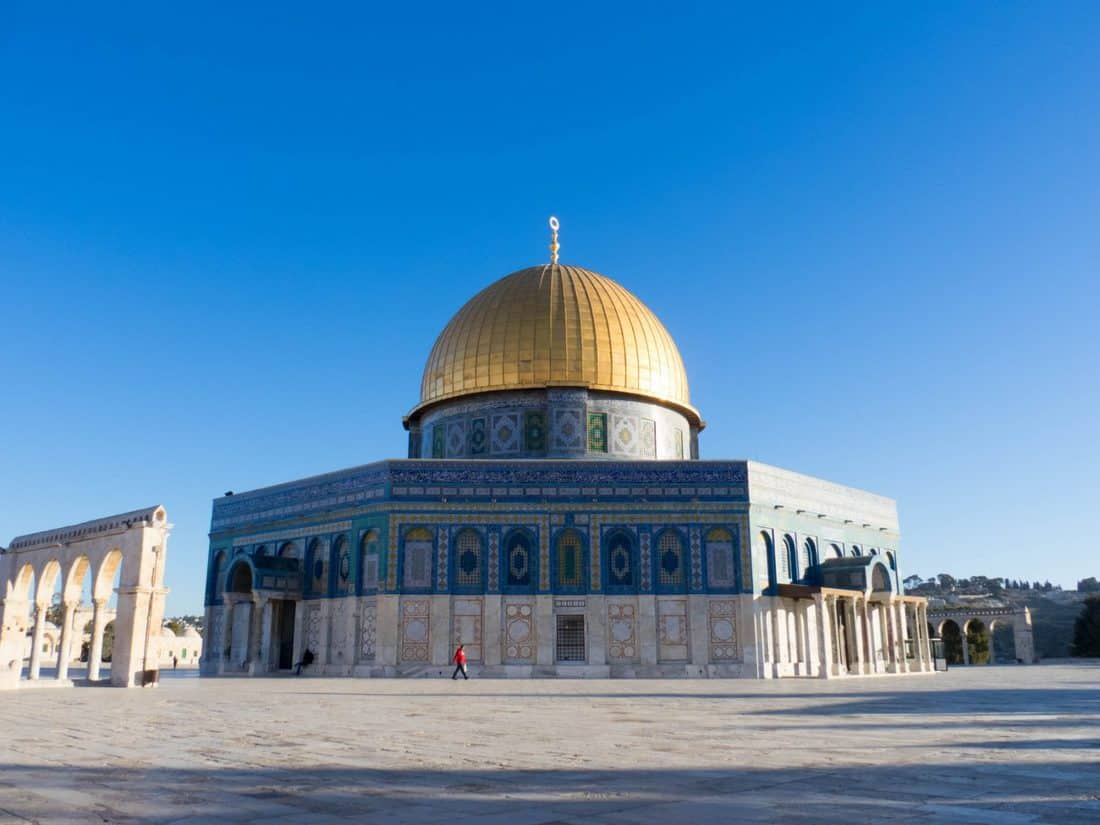 Dome of the Rock on Temple Mount, Jerusalem, Israel (2017-01-11)