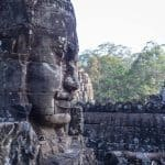Buddha faces on Bayon Temple, Angkor Thom, Siem Reap, Cambodia (2017-04-13)