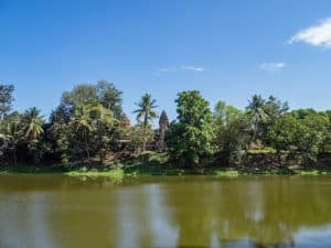 View of Bakong temple, Roluos Group, Angkor, Siem Reap, Cambodia (2017-04-21)