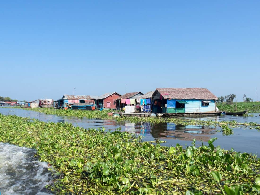 Life on the river, Boat from Siem Reap to Battambang, Cambodia (2017-04-22)