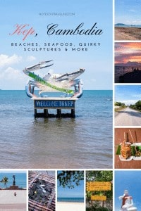 Read all about where to stay in Kep, Cambodia, how to get there/to Vietnam, how to eat your fill of crabs, great hikes, beaches, and sculptures (!). #travelguide #backpacking #beachvacation