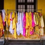 Traditional clothes available for photo shoots at Hue Citadel, Vietnam (2017-06)