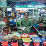Lady on Dong Ba Market who served Anthony Bourdain street food, Hue, Vietnam (2017-06)