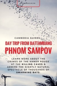 I had spontaneously decided to do the Phnom Sampov tour. Phnom Sampov is a hill, about 15 km southwest of Battambang, Cambodia, that is both of historical relevance and home to a natural spectacle: the Khmer Rouge used caves in the stone as Killing Caves, and every night hundreds of thousands of bats emerge from the mountain So I took to the internets and quickly stumbled across the Sunset and Bat Caves Tour by Butterfly Tours. At $25 for an afternoon Butterfly Tours weren't exactly cheap but I like to support a social tourism enterprise when I see one. #cambodia #battambang #guidedtour