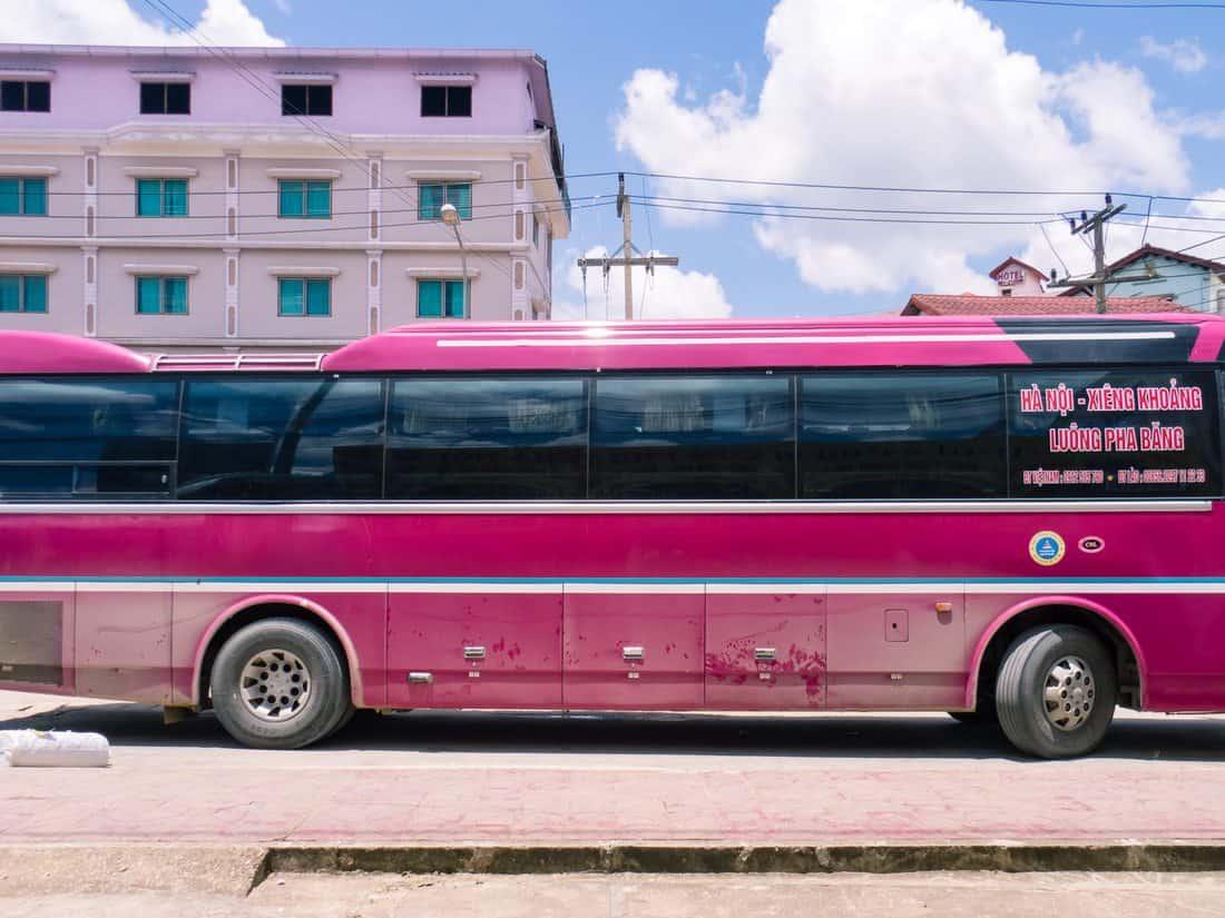 Bus from Hanoi to Luang Prabang, Vietnam, Laos (2017-07)