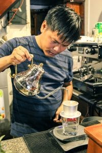 Phin Vietnamese coffee making on Hoi An food tour
