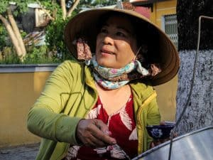 Ximaho lady on Hoi An food tour, Vietnam