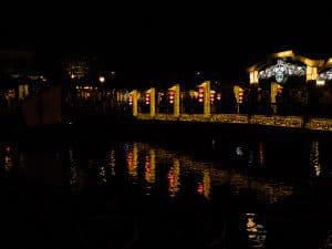 Hoi An bridge at night, Vietnam (2017-05/06)