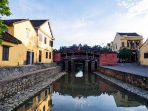 Japanese Bridge at sunrise, Hoi An, Vietnam (2017-05/06)