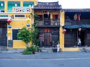 Lady waiting at sunrise, Hoi An, Vietnam (2017-05/06)