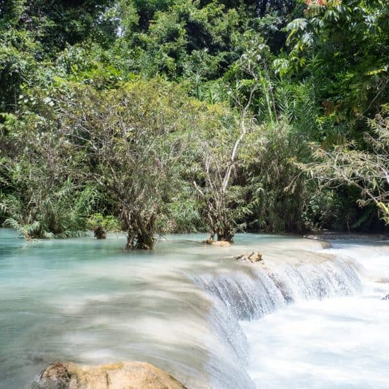 At the foot of Kuang Si Waterfall, Luang Prabang, Laos (2017-08)