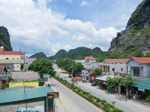The main road in Phong Nha village, Vietnam (2017-06)