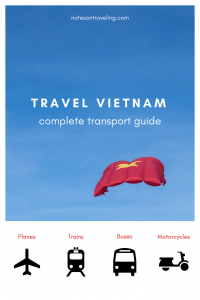 Everything you need (incl. booking links) to travel Vietnam by public transport (plane, train, bus) plus an intro into exploring the country by motorcycle. #destinationguide #backpacking #travelguide
