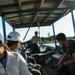 On the ferry crossing from Inwa, Mandalay, Myanmar (2017-09)