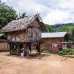 Ban Huoy Phalam Village, Luang Say Mekong river cruise, Luang Prabang to Huay Say, Laos (2017-08)