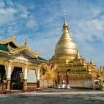 Central golden stupa of Kuthodaw Pagoda, Mandalay, Myanmar (2017-09)