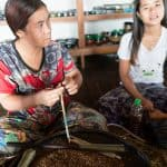 Inle Lake boat tour: Cigar making workshop, Myanmar (2017-10)