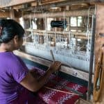 Inle Lake boat tour: Silk longyi weaving, Myanmar (2017-10)