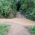 Inle Lake bike tour: The path is blocked, Myanmar (2017-10)