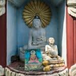 Shrine outside Tilawkaguru Cave, Sagaing, Mandalay, Myanmar (2017-09)