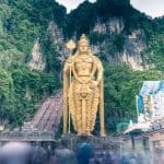 Lord Murugan outside Temple Cave, Batu Caves, Kuala Lumpur, Malaysia - 20171231-DSC03307