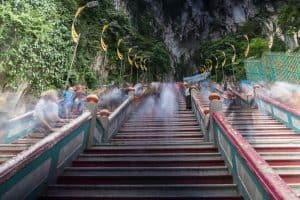 Staircase up to Temple Cave & Dark Cave, Batu Caves, Kuala Lumpur, Malaysia - 20171231-DSC03317
