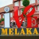 I Heart Melaka sign on Dutch Square, Melaka, Malaysia