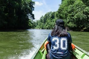 On the boat during Ulu Temburong National Park tour, Brunei