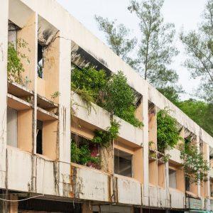Ruin in downtown Bandar Seri Begawan, Brunei