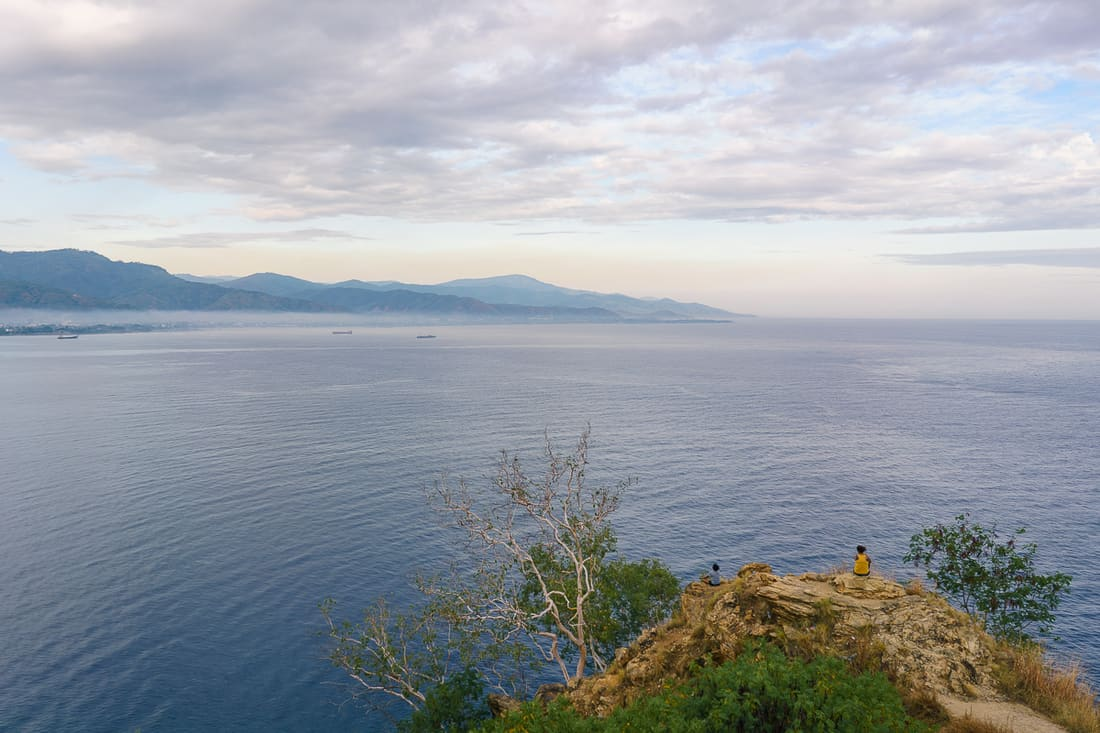 Dili from Christo Rei monument at sunrise, East Timor