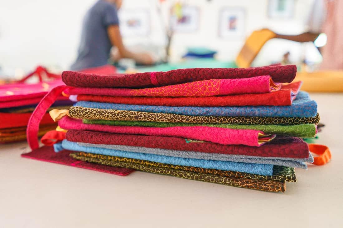Fabrics at Boneca de Ataúro, Vila, East Timor