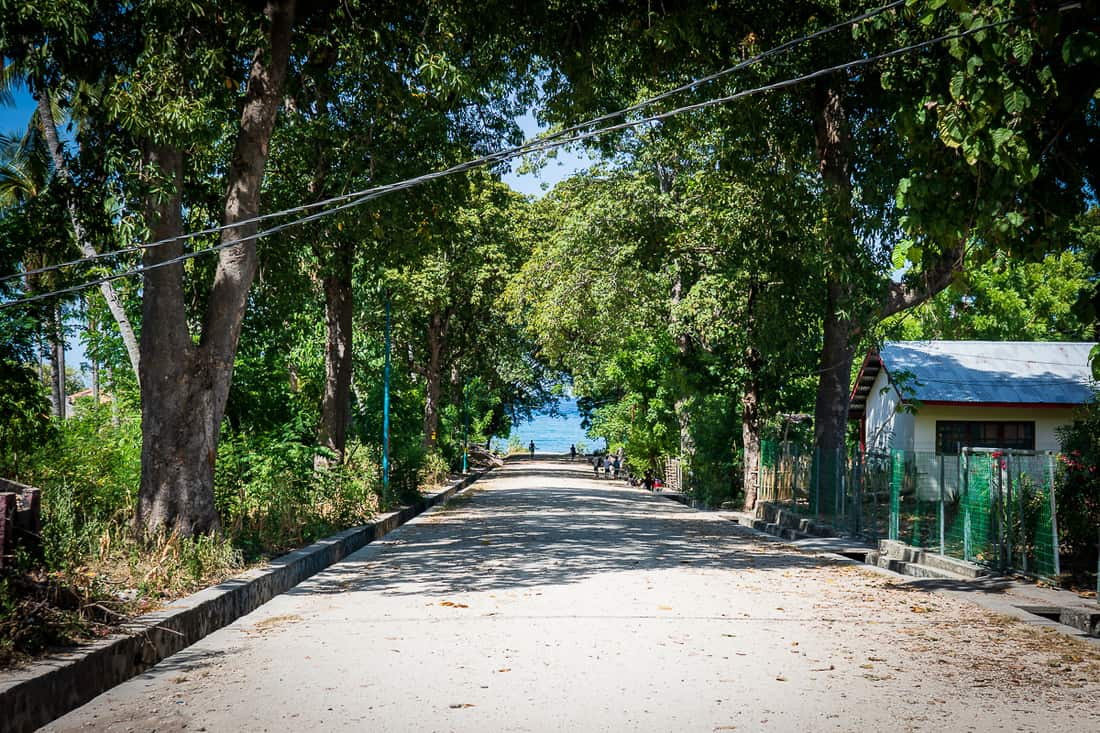 Main road to the sea at Vila, Autauro, East Timor