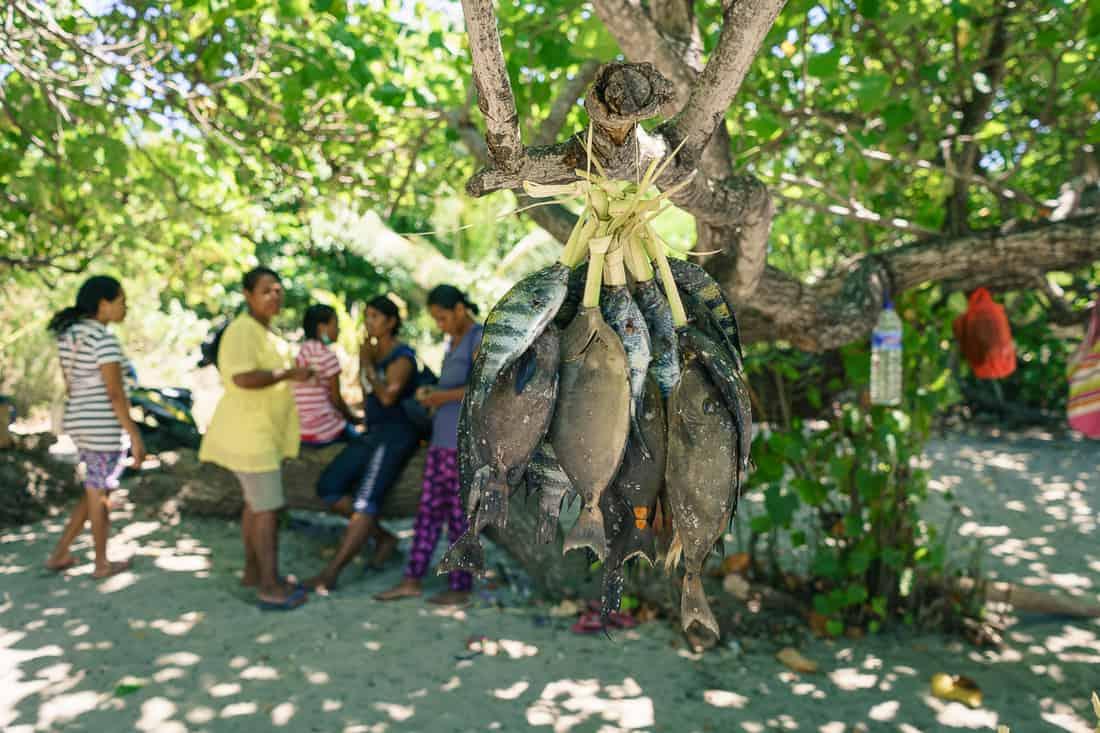 Fish on the market, Beloi, Atauro, East Timor