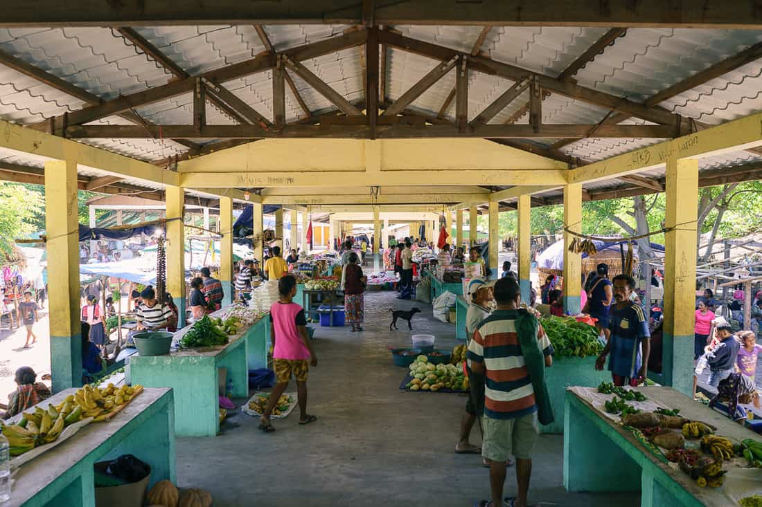 Produce market, Beloi, Atauro, East Timor