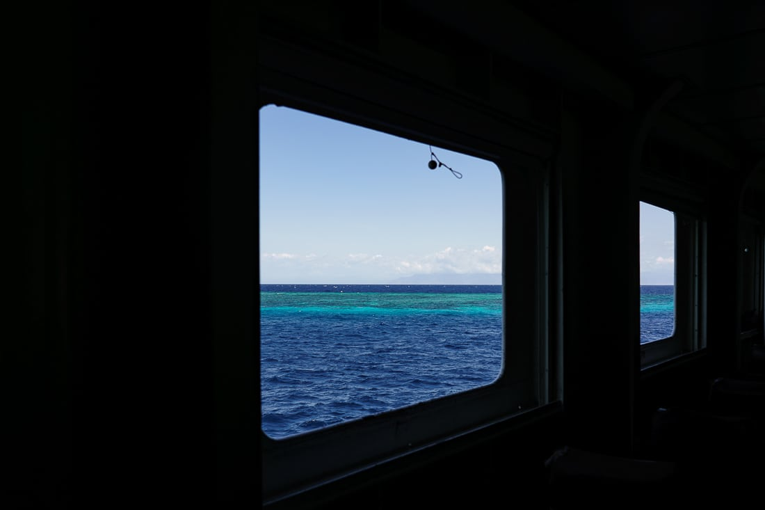 Reef off the Beloi coast from the ferry, Atauro, East Timor
