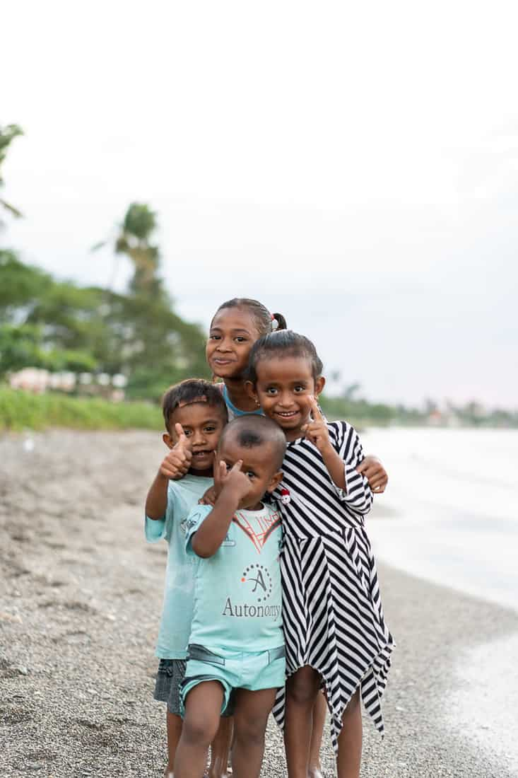 Kids on the beach in Dili, East Timor