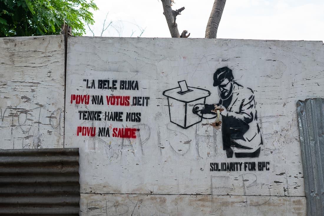 Dili street art, East Timor