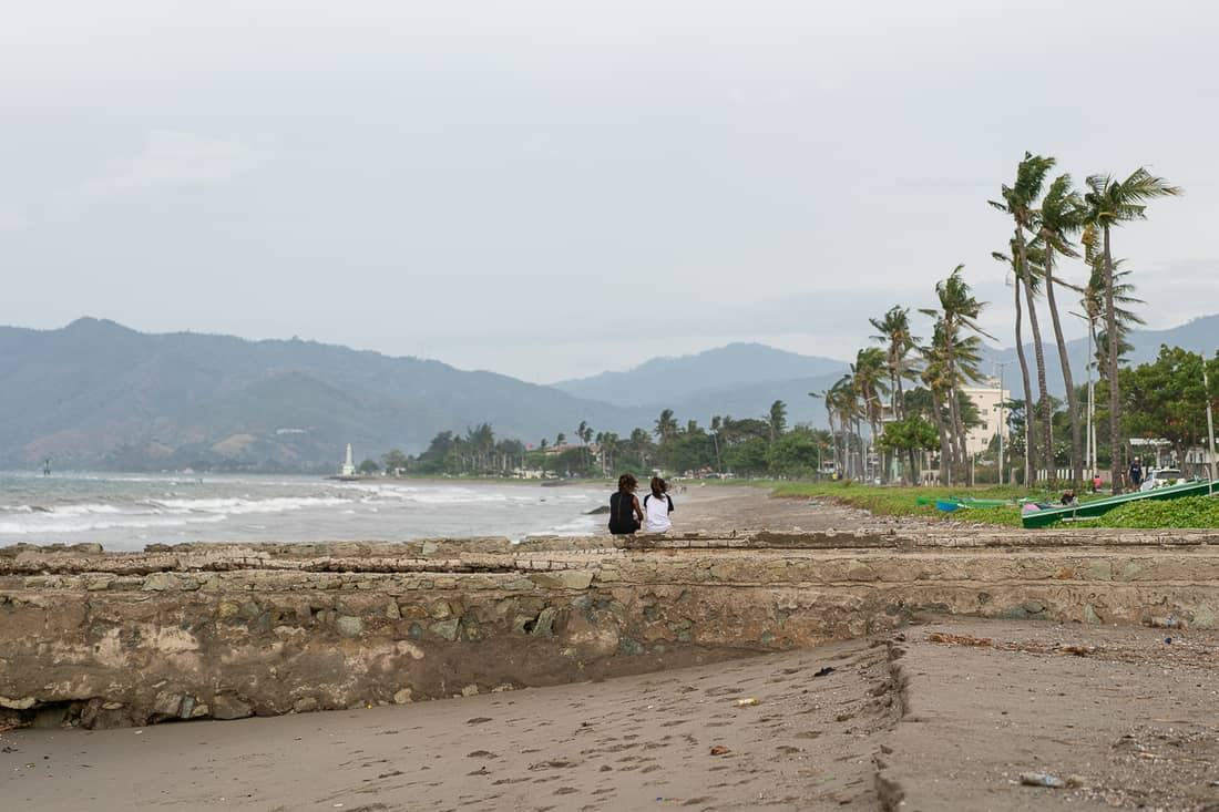 Rainy day on Dili beach, East Timor