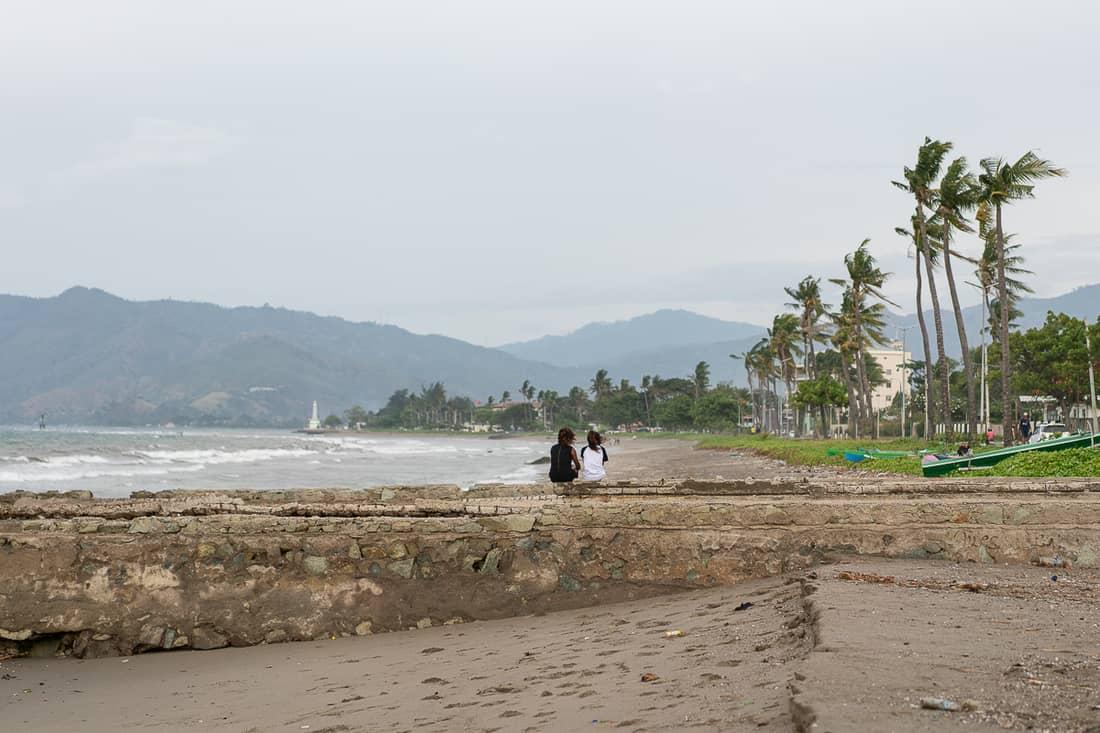 Rainy day on Dili beach, East Timor