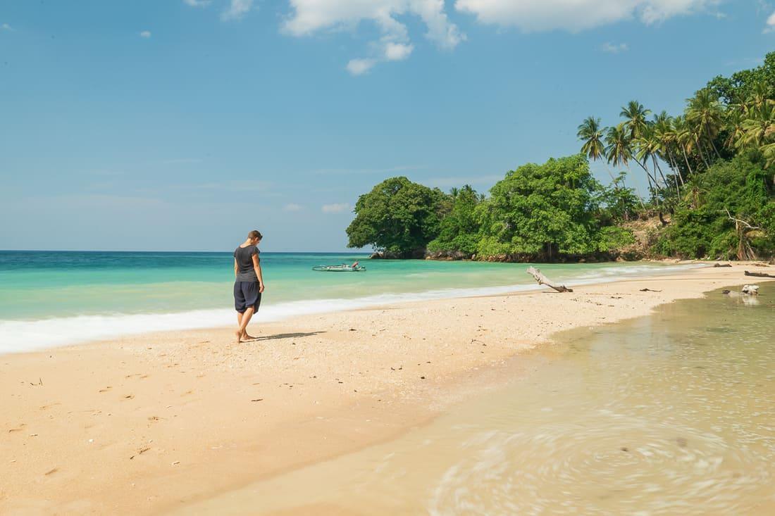 Carola at Baucau beach, East Timor