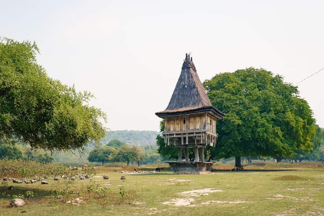 Tradisional stilted house, Com, East Timor